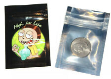 "100 BAGS Customized  Mylar Aluminum Foil Resealable Zip Lock Pouch 2""X3"
