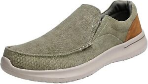 Men's Casual Shoes Slip On Canvas Loafer Shoes Moccasin Drving Walking Shoes