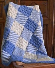 Chunky wool Patchwork utilisantun All in One Piece No Joining! Knitting Pattern