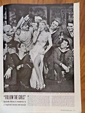 1944 Theater Ad FOLLOW THE GIRLS  Gertrude Niesen