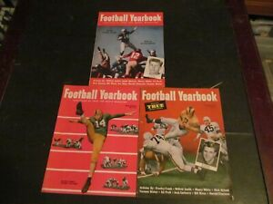 LOT OF 3 VINTAGE 1950S TRUE MAGAZINE FOOTBALL YEARBOOK MAGAZINES