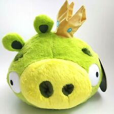 """Angry Birds King Pig Smooth Cheeks Gold Crown 9"""" Tall Plush Toy Rovio New Tags"""
