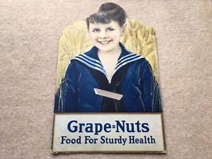 C1910 VINTAGE GRAPE-NUTS FOOD FOR STURDY HEALTH ADV SHOWCARD