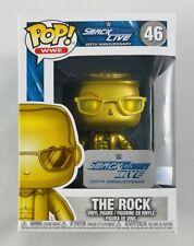Funko Pop! Wwe The Rock Gold #46 SmackDown Live 20th Anniversary New Box Damage