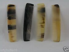 "4 pc Buffalo Horn Handmade Comb Honey and brown mix 5x1"" (013)"