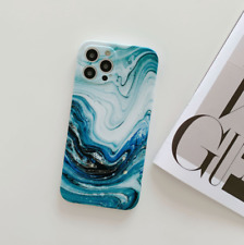 Matte Case For iPhone 12 Pro Max 11 Xs Xr 7 8 Silicone Marble Ring Holder Cover