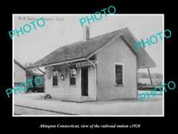 OLD LARGE HISTORIC PHOTO OF ABINGTON CONNECTICUT THE RAILROAD DEPOT c1920