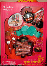 American Our Generation Girl Scout Set Doll Around the Campfire Food Pots Pans