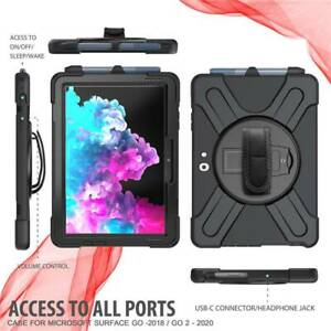 """For 10.5"""" Microsoft Surface Go 2 Tough Rugged Armour w Shoulder Strap Case Cover"""