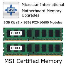 2GB Juego MSI G41M-P25/MS-7592 VER: 6.0 DDR3 Actualización Memoria PC3-10600