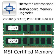 KIT da 2 GB MSI g41m-p25 / ms-7592 VER: 6.0 memoria DDR3 Upgrade PC3-10600 1333 Mhz