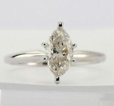 Anillos de joyería con diamantes brillantes de oro blanco SI2
