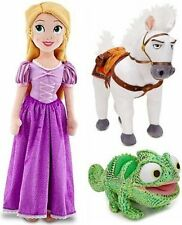Disney Store Tangled Princess Rapunzel Plush Doll Set; Maximus the Horse, Gre...