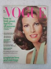 Vintage VOGUE Magazine May 1973 RAQUEL WELCH Cover Photo by AVEDON