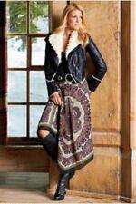 Boston Proper Sexy Grecian Paisley Scarf Skirt $119 M Medium 10-12 NEW Gorgeous!