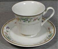 Citation Bellegarden Tea Cup & Saucer Pink Purple Orange Flowers - SET