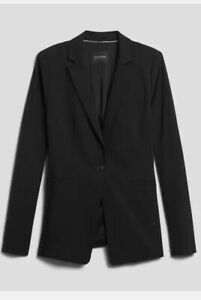 Banana Republic Womens Lean-Fit Washable Wool-Blend Blazer Size 4 #427878