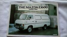 MAZDA E1600 E 1600 Panel Van UK Market Sales Brochure March 1982