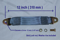 Seat Belt Extender / Extension Universal  Add  12 Inch Grey Color