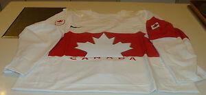 Team Canada 2014 Sochi Winter Olympics Hockey Jersey White 54 Pro Authentic