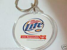 Miller Lite Keychain Key Fob Vintage Collectible ESPN K/C (#203)