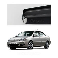 Smoked Side Window Vent Visor Rain Guards (for Toyota Corolla 2003 - 2008)