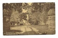 REISTERSTOWN MD All Saints Rectory & Church Entrance PC Maryland Postcard