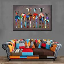 HD Home Art Print Painting African Animal Colorful Zebra Canvas Wall Decor 24x36