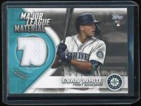 2021 Topps Evan White Major League Materials Relic Rookie #MLM-EW Mariners RC
