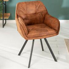 Drehbarer Design Stuhl MR. LOUNGER hellbraun mit Armlehne Esszimmerstuhl Retro