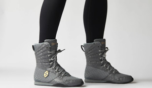 Society Nine Eos High Top Boxing Shoes in Storm Gray -  Women's 8 - NEW