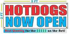 Hotdogs Now Open Banner Sign New Larger Size Best Quality for the $