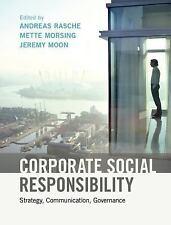 Corporate Social Responsibility : Strategy, Communication, Governance (2017,...
