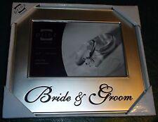 New Prinz Bride Groom Wedding 7x6 Crystal & Metal Picture Frame Mr Mrs Marriage
