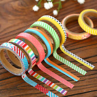 3pcs 5M DIY Paper Sticky Adhesive Sticker Decorative Scrapbooking Washi Tape HS