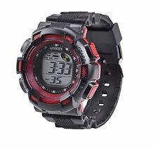 Big Dial Boys Wristwatch Multifunction Alarm Chrono Digital Wrist Watch Red cd