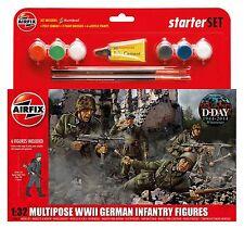 Airfix 1/32 multipose II Guerra Mundial Alemán Infantería Figuras Set básico #