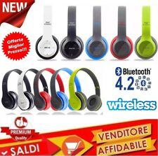 P47 cuffie Bluetooth wireless stereo pieghevoli con microfono pc smartphone