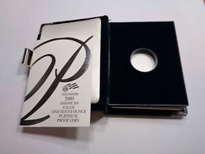 2005 AMERICAN EAGLE PLATINUM PROOF 1/10 OZ CASE ONLY PAPERS NO COIN NO BOX #B
