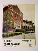 1969 Illinois Fighting Illini vs Northwestern Wildcats Football Program V GOOD+