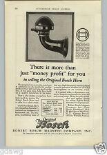 1926 PAPER AD Robert Bosch OE Car Automobile Horn Magneto Co
