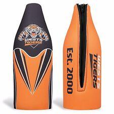Wests Tigers NRL TALLIE LONG NECK Beer Wine Bottle Zip Cooler Man Cave Bar