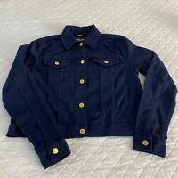 Michael Kors Size Large Denim Blue Jacket