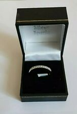 925-Sterling Silver & Cubic Zirconia Channel Set Half Eternity Ring