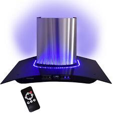 DUNSTABZUGSHAUBE 90 cm mit Blauen LED, TOUCH SCREEN und FERNBEDIENUNG SYNTROX