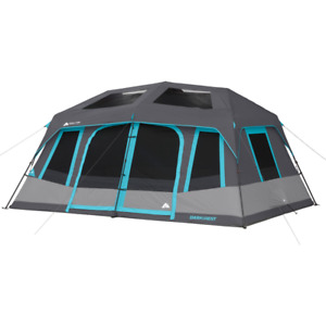 Ozark Trail 10-Person Dark Rest Instant Cabin Tent Polyester, Steel | Gray