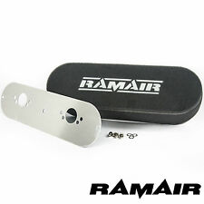 RAMAIR Twin Carb filtri dell'aria con piastra di base MG B SU HS4 BOLT ON SCHIUMA