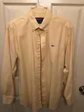 Mens Vineyard Vines Button Down Medium - Yellow