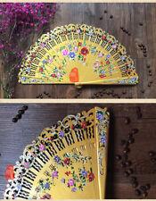Hand Painted Flower Fan Wood Fan Custom Dance Fan Spanish Style Wedding Fan