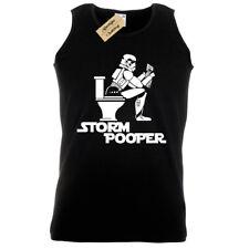 STORM POOPER Mens Tank Top funny design trooper wars banksy hipster vest sith
